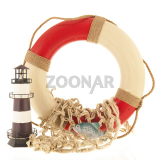 Lifebuoy and fishing net