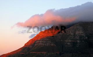 Abendlicht am Tafelberg, Kapstadt, Südafrika - at Table Mountain, Cape Town, South Africa