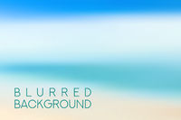 horizontal wide blue sky blurred background. Sunset and sunrise sea blurred background