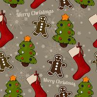 Christmas seamless texture.