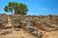Ruins of Phaistos palace on Crete, Greece