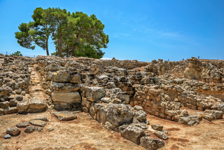 Ruins of Phaistos palace on Crete, Greece