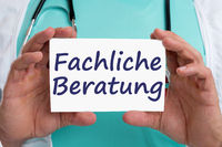 Fachliche Beratung Rat Doktor Arzt krank Krankheit