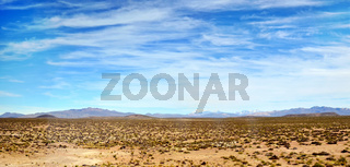 Peruvian  Nasca desert panorama