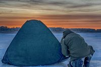 tent for winter fishing on the ice