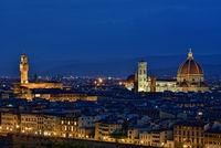 Blick auf Florenz mit Dom und Palazzo Vecchio
