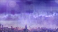 Modern city blurred digital background of ultra violet color