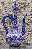Decorative souvenir Hand drawn wine pitcher decoration.