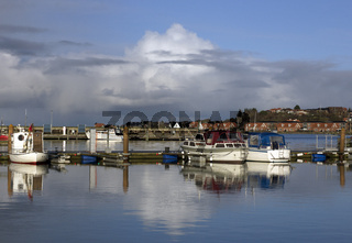Fishing boats at bay