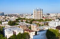 urban houses in Kiev city in spring morning