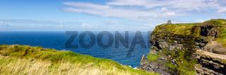 Cliffs of Moher Klippen Irland Panorama Reise Meer Tourismus Natur Ozean