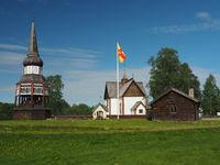 Kirche von Älvros in Härjedalen, Schweden