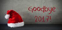 Santa Hat, Text Goodbye 2017