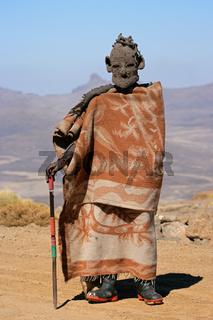 Basotho herdsman, Lesotho