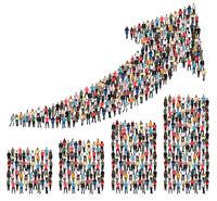 Menschen Gruppe Leute Erfolg Wirtschaft Wachstum erfolgreich Diagramm Pfeil Business