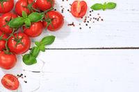 Tomaten Tomate rot Gemüse Textfreiraum von oben