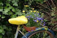 Fahrrad mit Blumenschmuck