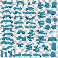 Blue Web Ribbon Set-