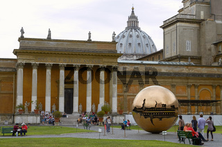 VATICAN CITY, VATICAN - OCTOBER 4, 2010: People Relaxing And Enjoying the Park Inside Vatican Museum
