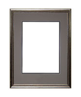 Silver picture or photo frame with cardboard mat