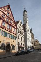 Fachwerkhaeuser in Rothenburg ob der Tauber