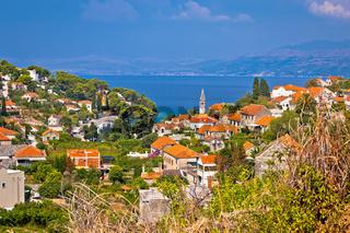 Splitska bay on Brac island view