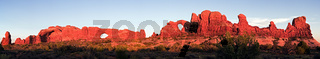 Torret Arch and North Window in Arches National Park