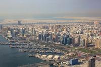 Dubai The Creek Dau Dhau Luftaufnahme Luftbild