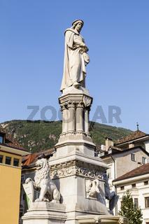Walther-Denkmal, Bozen, Südtirol, Italien, Walther statue, Bolzano, South Tyrol, Italy
