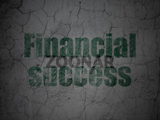 Money concept: Financial Success on grunge wall background