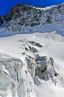 Seracs auf dem Langgletscher, Lötschental, Wallis, Schweiz