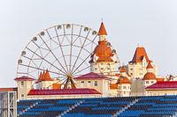 Orange wheel in Olympic park