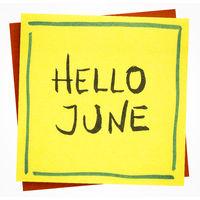Hello June - greetings note