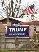 Political Sign Banner Trump Make America Great Again