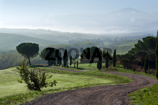 General view of Val d'Orcia Tuscany