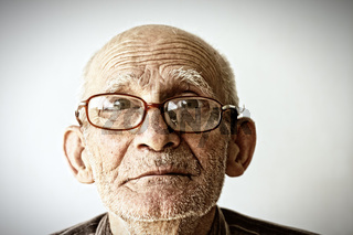 Senior man in eyeglasses