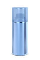 Blue aerosol spray can