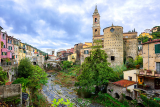 Dolcedo, little italian town in the Maritime Alps mountain in Liguria, Italy