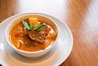 duck red curry