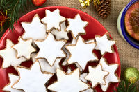 German Zimtsterne Christmas Cookies