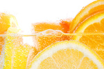 Oranges and lemons in club soda