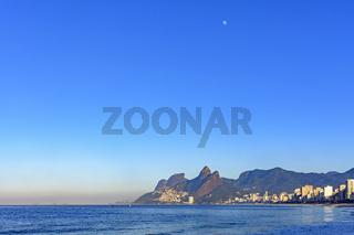 Moon over Ipanema beach