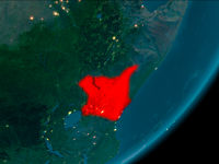 Kenya from space at night