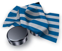 musiknote und griechische flagge - 3d illustration