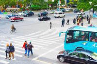 People crossing the road. Shanghai