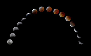Totale Mondfinsternis - total lunar eclipse