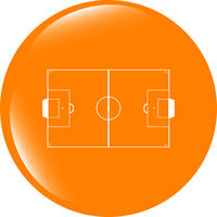 football soccer field on web icon, sport application web button