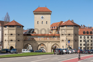 The Isartor city gate in Munich