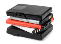 Stack of rechargeable lithium-ion batteries