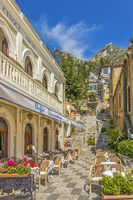 Cafe In The Old Town Of Taormina, Italy